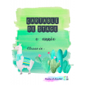 Couvertures de cartable de stage