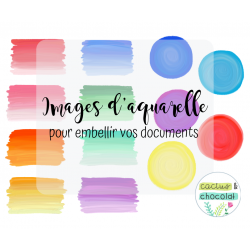 Aquarelle - Rectangles et ronds