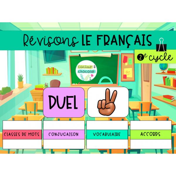 Jeu de révision - Français 2e cycle