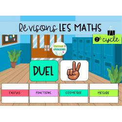 Jeu de révision - Mathématiques 2e cycle