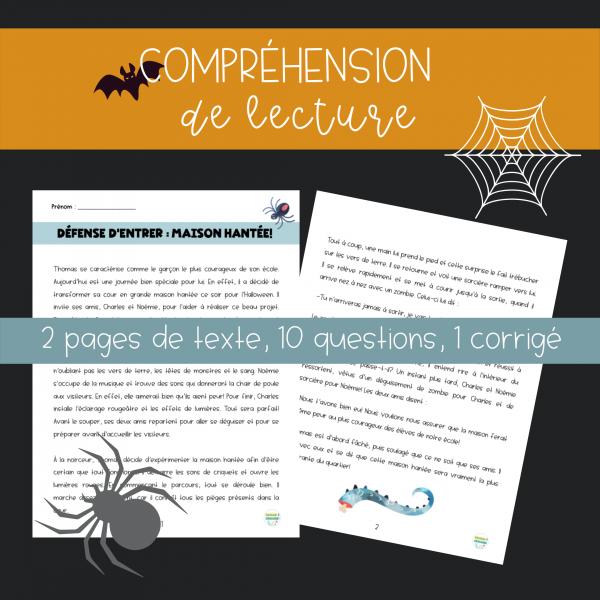 Compréhension de lecture - Halloween