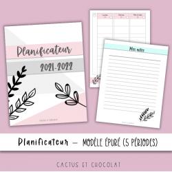 Planificateur épuré 2021-2022