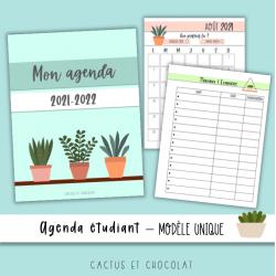 Agenda étudiant «plantes» 2021-2022