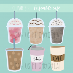 Cliparts - Ensemble café