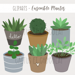 Cliparts - Ensemble plantes