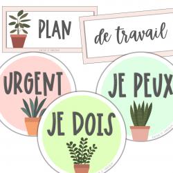 Plan de travail «plantes»