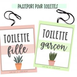 Passeport toilette «plantes»