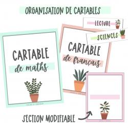 Organisation de cartables «plantes»