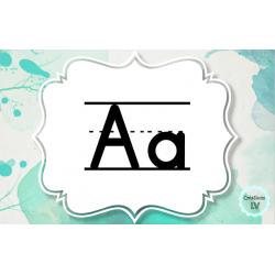 Affiches - Lettres de l'alphabet - Encre bleue