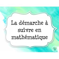 La démarche à suivre en mathématique (demi-page)