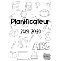 Planificateur/agenda 2019-2020 noir et blanc