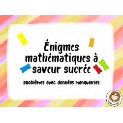 Jeu-Énigmes mathématiques à saveur sucrée