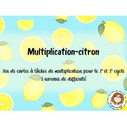 Jeu et CàT - multiplication-citron