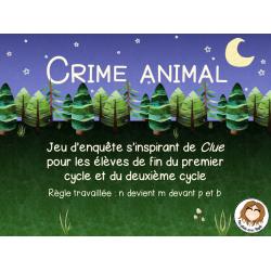 Jeu - crime animal - m devant p et b