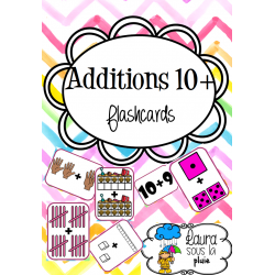 Flashcards Addition 10+