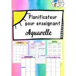 Planificateur enseignant 2017-2018 - Aquarelle
