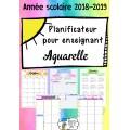 Planificateur enseignant 2018-2019 - Aquarelle