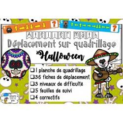 [Atelier math]Déplacement quadrillage Halloween
