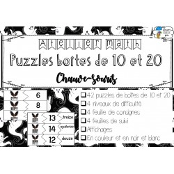 [Atelier math] Boîtes de 10 et 20 - Chauve-souris