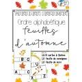 [Atelier lecture] Ordre alphabétique - automne