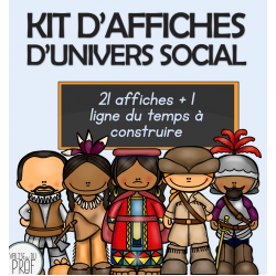 Kit affiches d'univers social - cycle 2