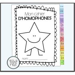 Kit d'homophones: cahier, roulette et Bingo