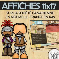 Affiches-société can. en Nouvelle-France 1745