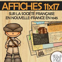 Affiches-société française en Nouvelle-France 1645