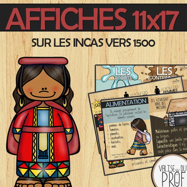 Affiches sur les incas vers 1500