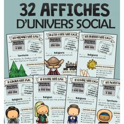 BUNDLE - 32 affiches d'univers social - cycle 3