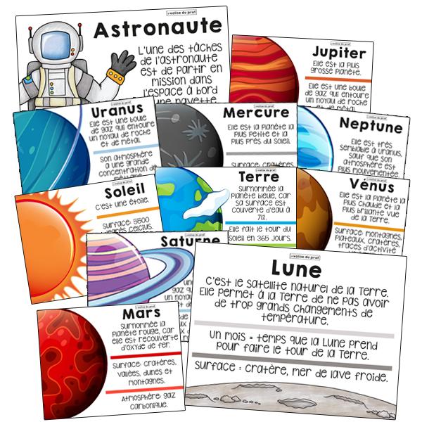 20 affiches sur le système solaire