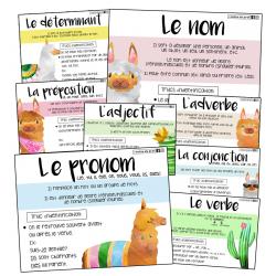 8 affiches - Classes de mots