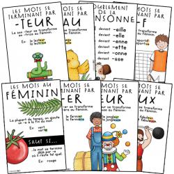 8 affiches - Féminin