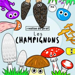 10 Cliparts - Champignons (2 versions)