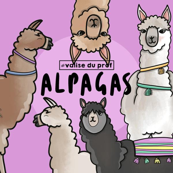 6 Cliparts - Alpagas