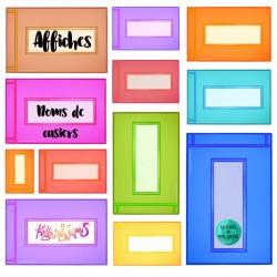 Affichage de classe - Noms de casiers