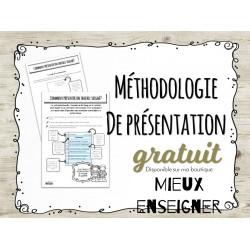 Méthodologie présentation de travaux