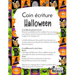 Coin écriture Halloween