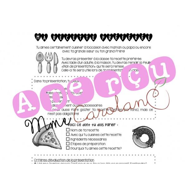 Oral: ma recette préférée