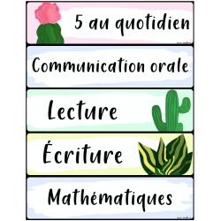 Menu du jour thématique Cactus/Plantes tropicales