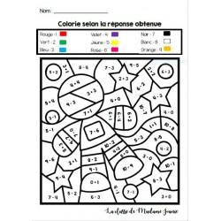 Colorie selon la réponse obtenue