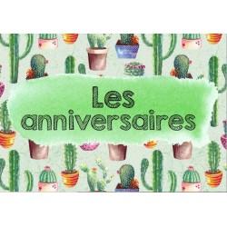 Affiches pour les anniversaires - modèle cactus