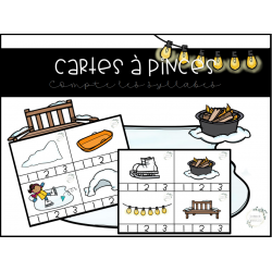 Cartes à pinces syllabes