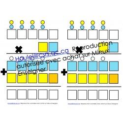 Gabarit pour multiplier et diviser au 3e cycle