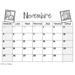 Calendrier mensuel