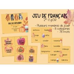 Jeu de révision français