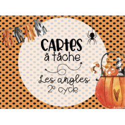 Cartes à tâches - Les angles - 2e cycle