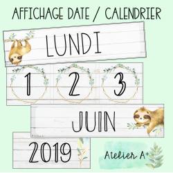 Affichage calendrier/date paresseux