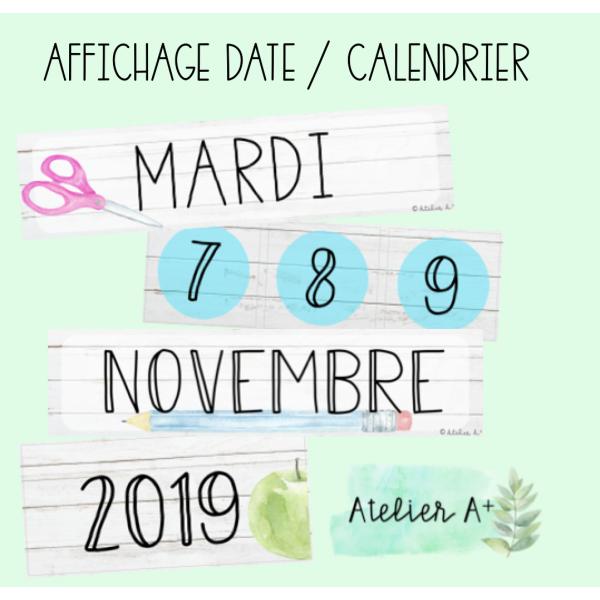 Affichage calendrier/date école