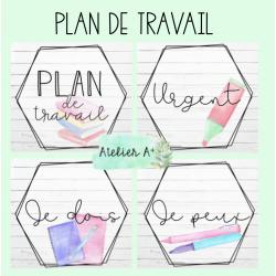 Plan de travail - école
